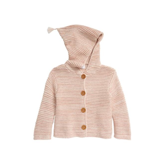 Organic Cotton Hooded Cardigan (Baby)