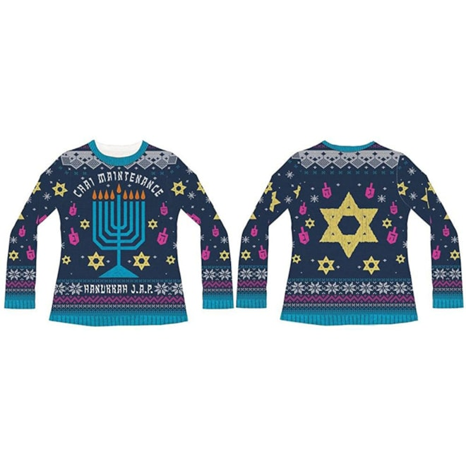 Chai Maintenance Hanukkah Sweater