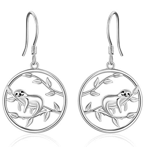 Circular Sloth Earrings