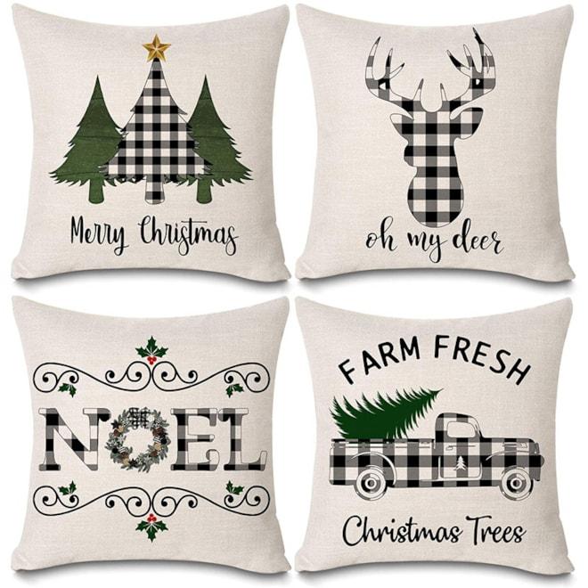 Christmas Buffalo Plaids Pillow Covers