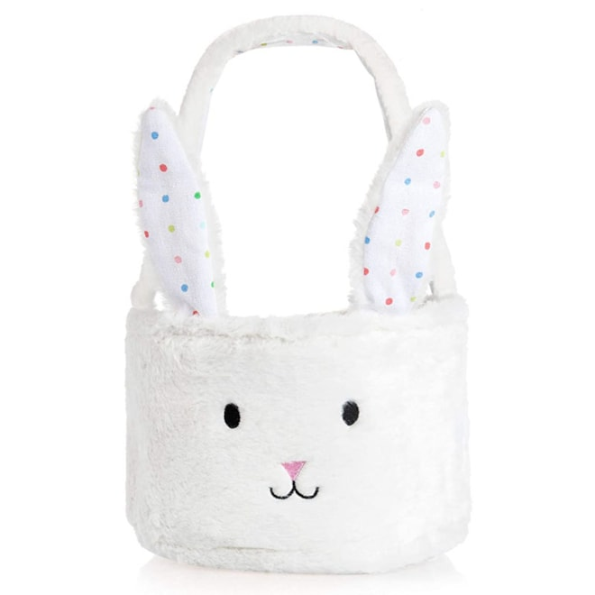 Easter Eggs Basket - Cute Fluffy Bunny Baskets