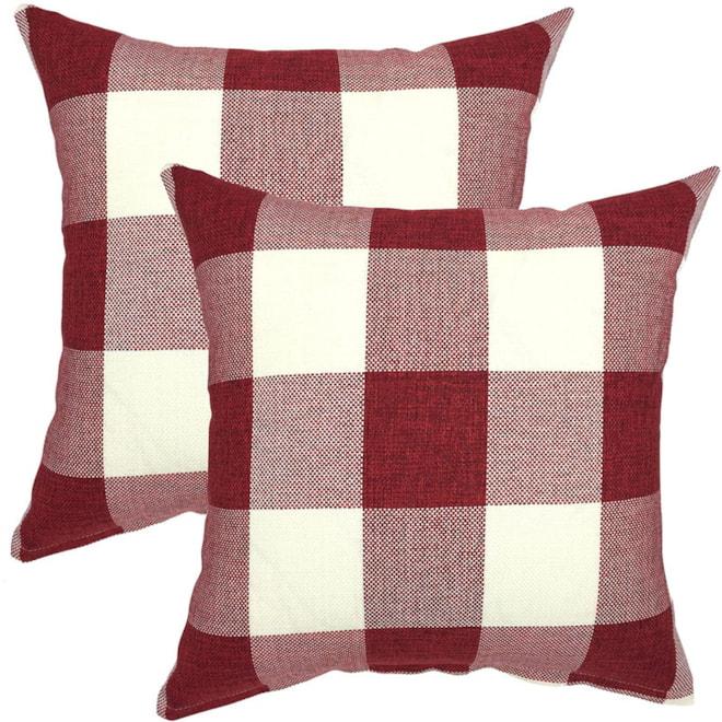 Farmhouse Buffalo Plaid Pillow CoversT
