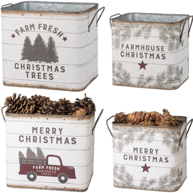 Farmhouse Tin Buckets