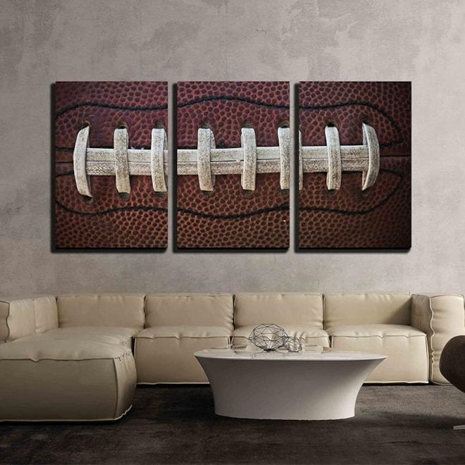 Football Canvas Wall Art 3 Panels