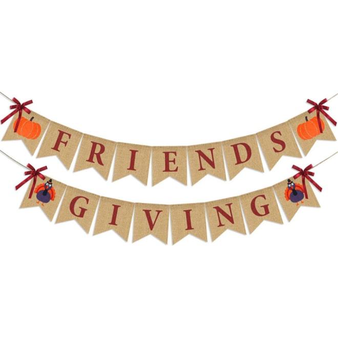 Friendsgiving Banner Burlap