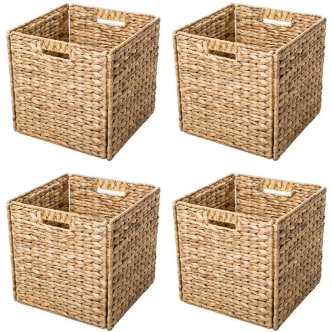 Foldable Hyacinth Basket Set