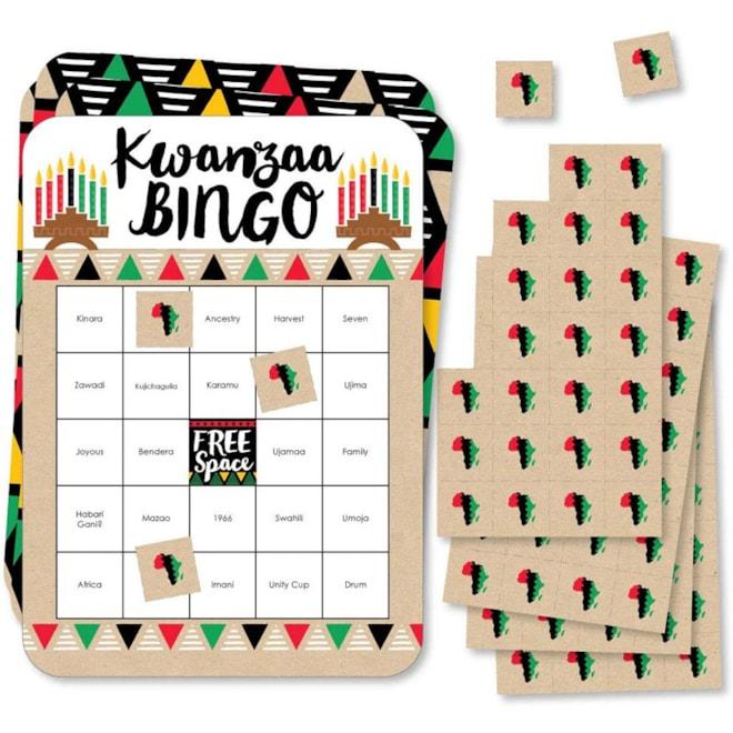 Happy Kwanzaa - Bingo Cards and Markers
