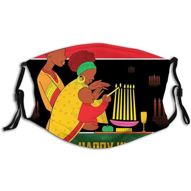 Happy Kwanzaa Face Mask