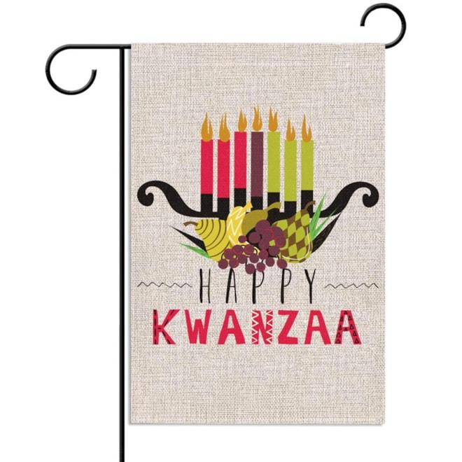 Happy Kwanzaa Garden Flag