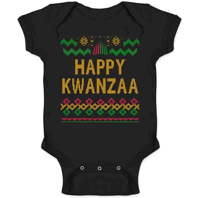 Happy Kwanzaa Sweater Style Onsie