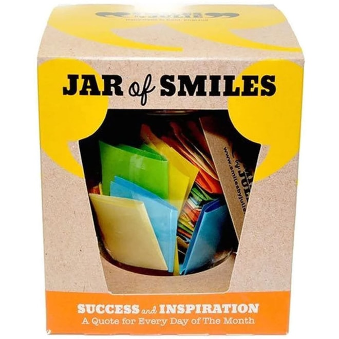 Jar of Smiles: Set of Inspirational Quotes in a Jar
