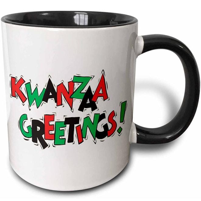 Kwanzaa Greetings Two Tone Mug