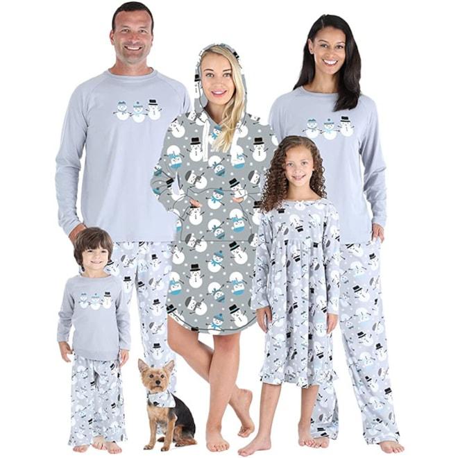 Matching Family Snowman PJ's