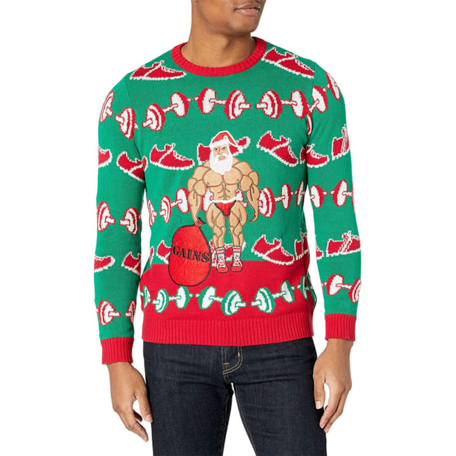 Men's Xmas-Fitness Ugly Christmas Sweater