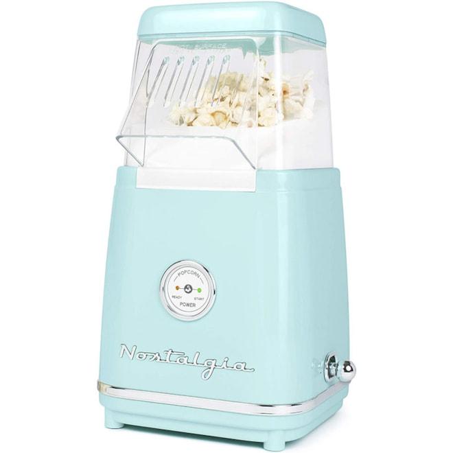 Nostalgia Classic Retro Healthy Hot-Air Tabletop Popcorn Maker, Makes 12 Cups,