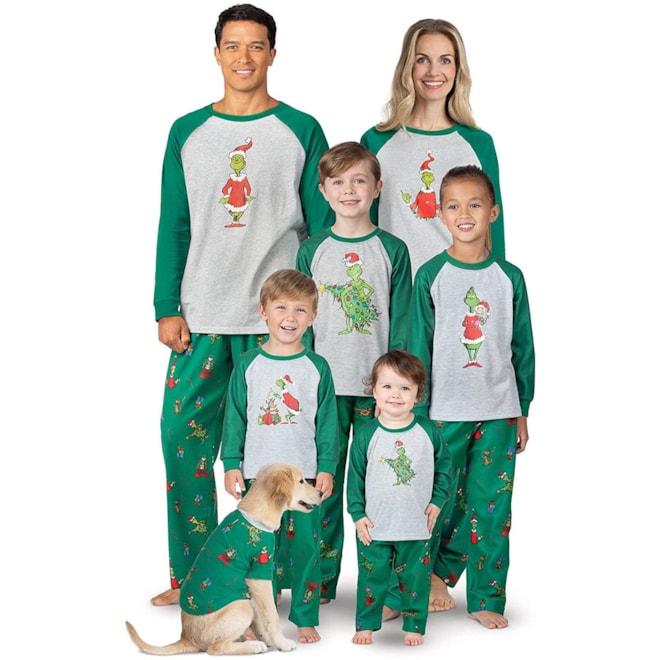PajamaGram Fun Holiday Grinch Pajamas