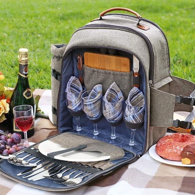 Picnic Backpack & Dishes Set