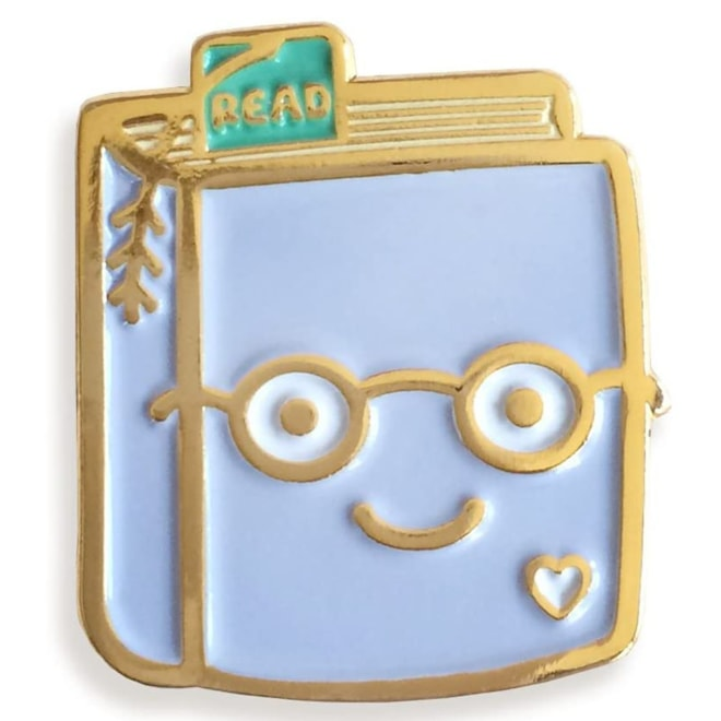 Pin Pals Book Lover Enamel Pin