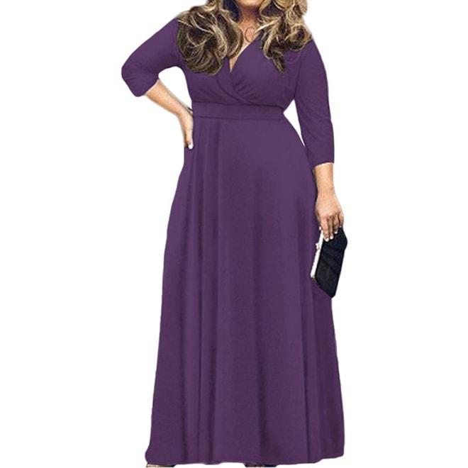 Plus Size Evening Party Maxi Dress