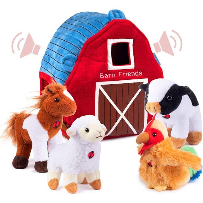 Plush Farm Animals Set with Sound