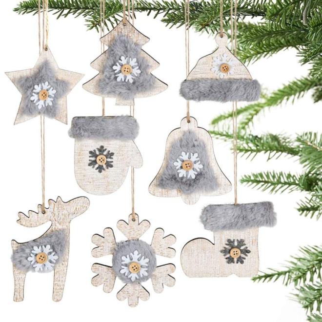 Rustic Ornament Set