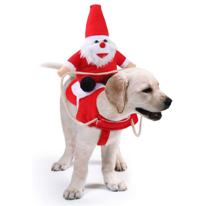 Santa Riding Dog Christmas Costume