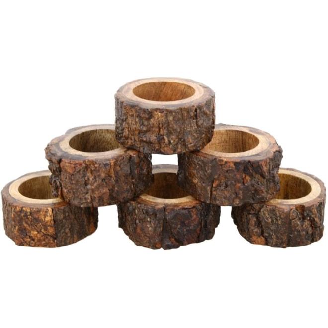 Rustic Wood Napkin Rings
