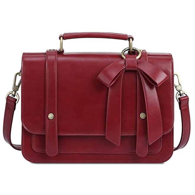 Small Vintage PU Leather Crossbody Satchel Bag