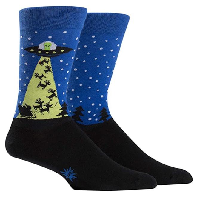 The Alien Who Stole Christmas Crew Socks