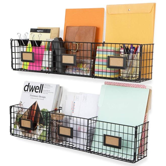 Wall Mount Wire Basket Storage