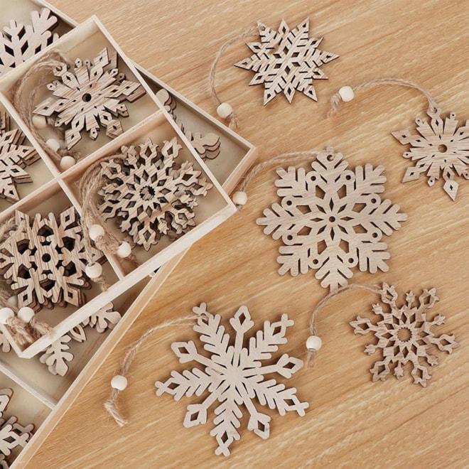 Wooden Snowflakes