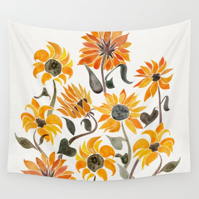 Sunflower Watercolor – Wall Tapestry