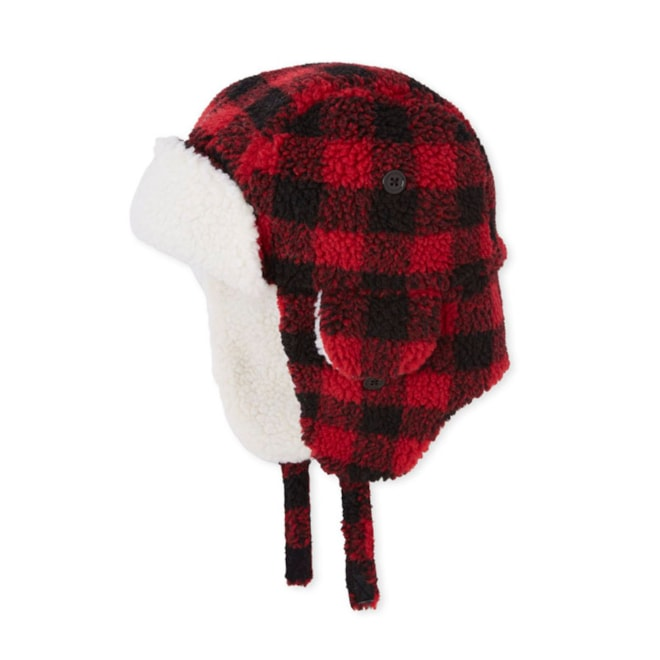 Mens Matching Family Buffalo Plaid Trapper Hat