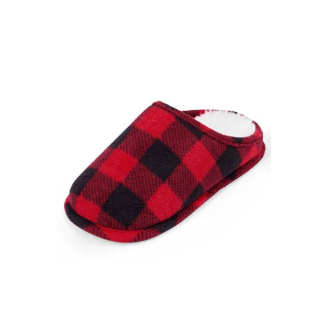 Unisex Kids Buffalo Plaid Slippers