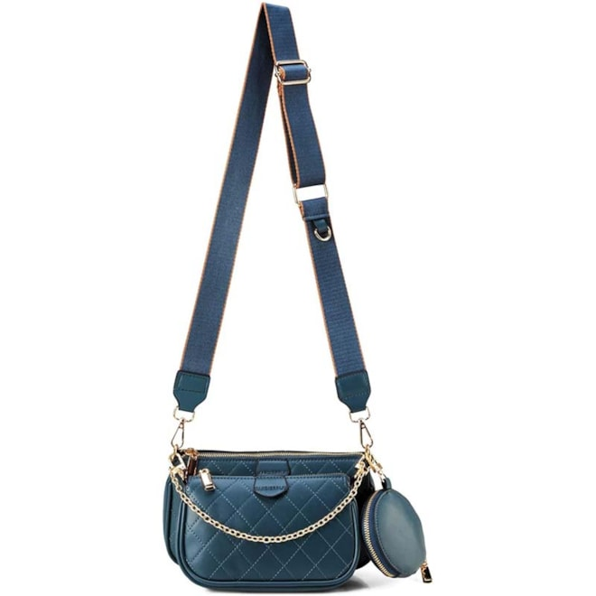 Small Navy Rhombic Crossbody Bags
