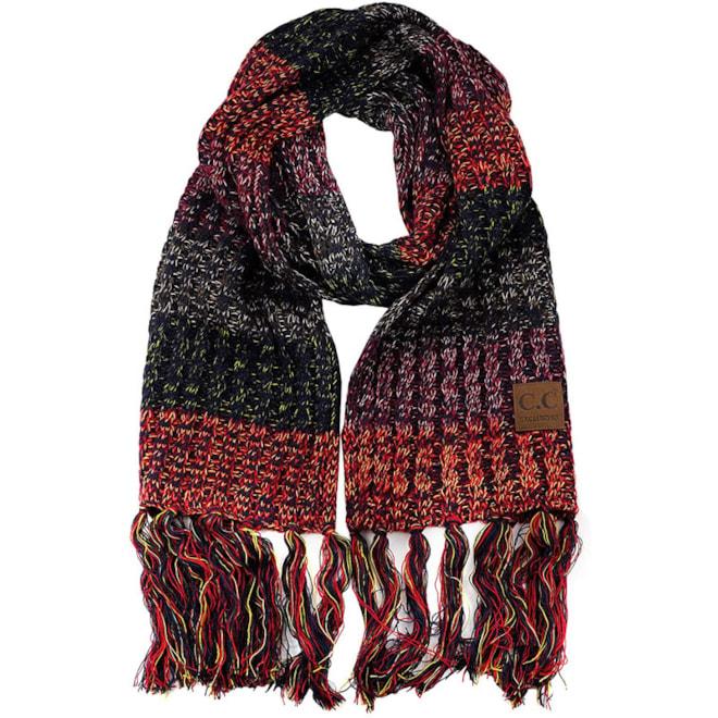 C.C. Knit Tassel Scarf