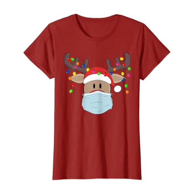 Rudolph Reindeer Mask Shirt