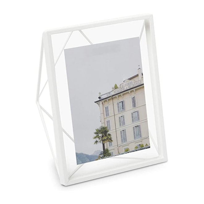 Umbra, White Prisma 8x10 Picture Frame for Desktop or Wall,