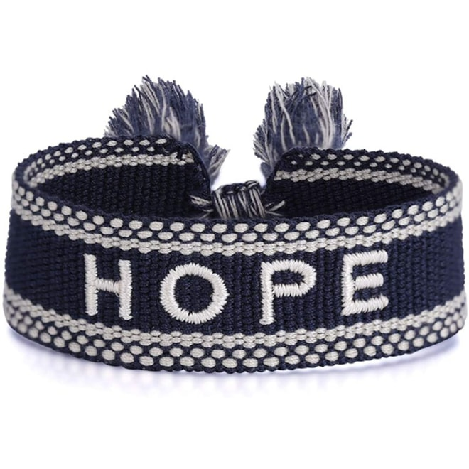 Woven Knitted Word Bracelet
