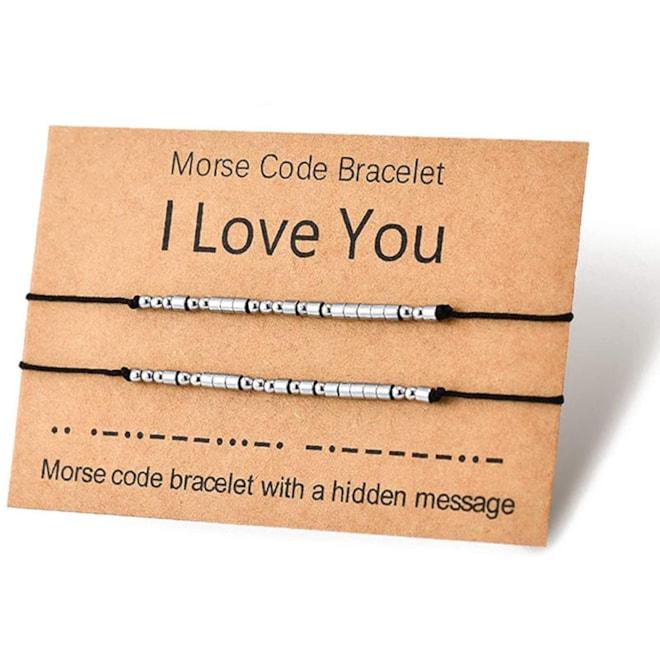 Love Bracelets Morse Code Couples Matching Bracelet