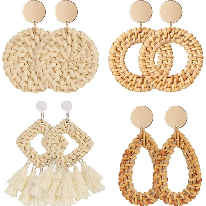 Rattan Lightweight Earrings