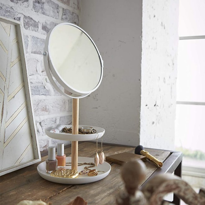 Accessory Tray With Mirror
