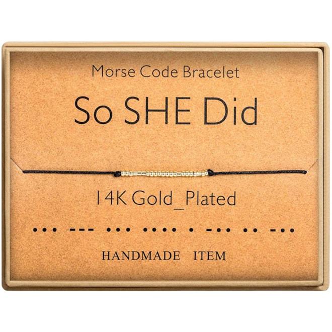 Morse Code So She Did Bracelet