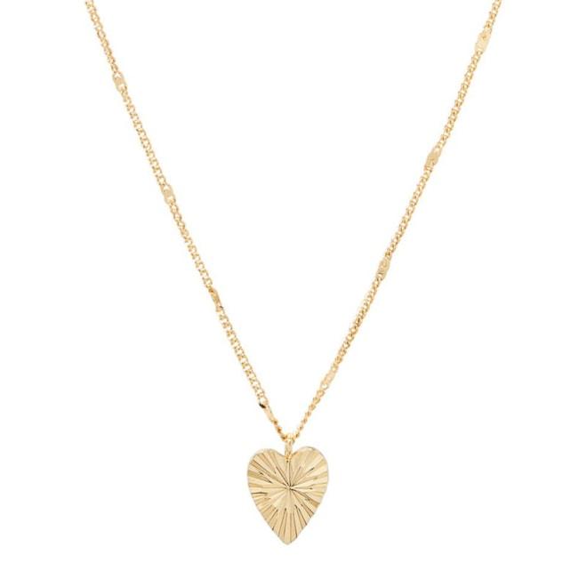 gorjana Beau Sunburst Heart Pendant Necklace | Nordstrom