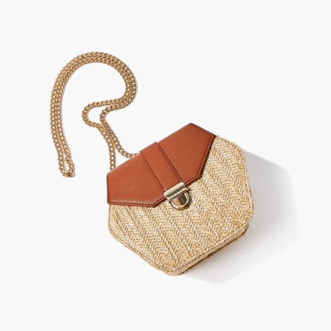 Basketwoven Hexagon Crossbody Bag | Forever 21