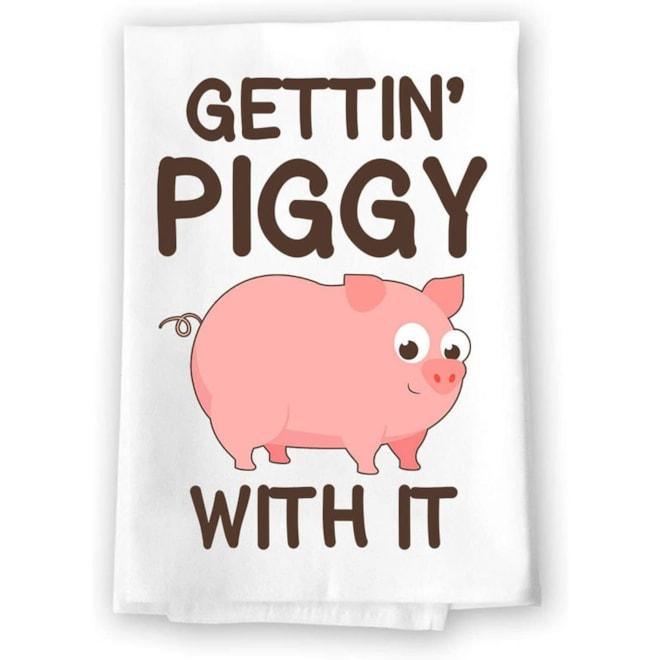 Gettin' Piggy Tea Towel