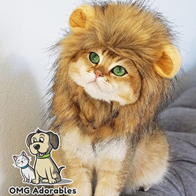OMG Adorables - Lion Mane Wig for Dog and Cat Costume