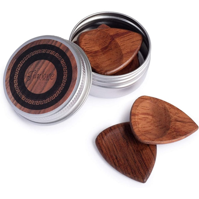 Genuine Rosewood Guitar Picks with Thumb Groove