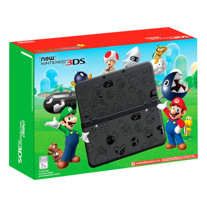Nintendo New 3DS Super Mario Black Edition - Nintendo 3DS