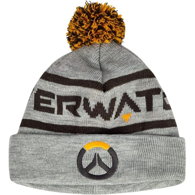 JINX Overwatch Elite Pom Knit Beanie (Grey, One Size)